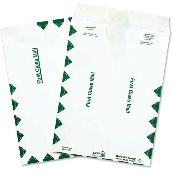 Survivor Tyvek USPS First Class Mailer, 9 x 12, White, 100/Box