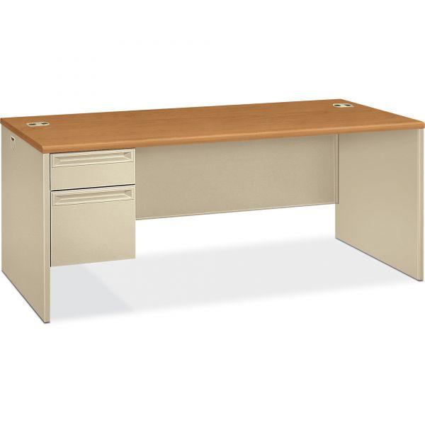 "HON 38000 Series Left Pedestal Desk | 1 Box / 1 File Drawer | 72""W"
