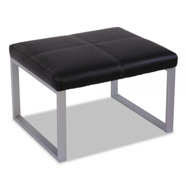Alera Alera Ispara Series Cube Ottoman, 26-3/8 x 22-5/8 x 17-3/8, Black/Silver