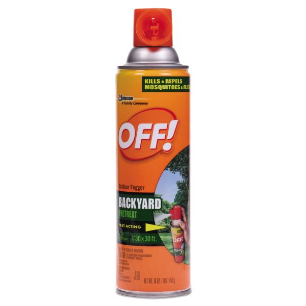 OFF! Backyard Insect Repellent, 16 oz Aerosol, 12/Carton