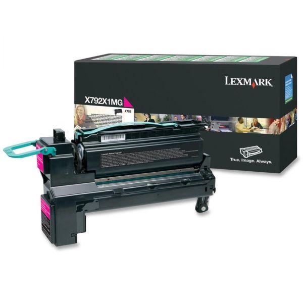 Lexmark X792X1MG Magenta Extra High Yield Return Program Toner Cartridge
