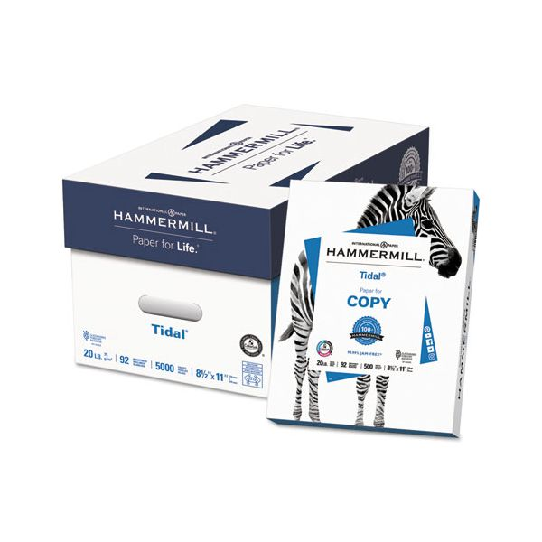 Hammermill Everyday Copy and Print Paper, 92 Brightness, 20 lb, 8 1/2 x 11, White, 5000 Sheets/Carton