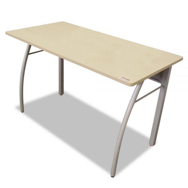 Linea Italia Trento Line Rectangular Desk, 47-1/4w x 23-5/8d x 29-1/2h, Oatmeal/Gray