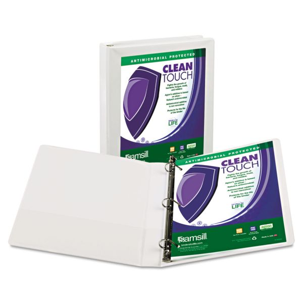 "Samsill Antimicrobial 1"" 3-Ring View Binder"