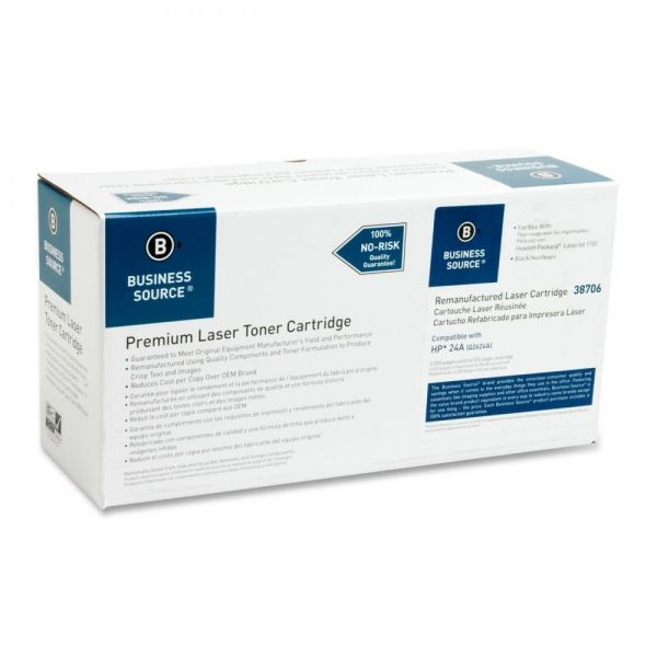 Business Source Remanufactured HP 24A (Q2624A) Toner Cartridge