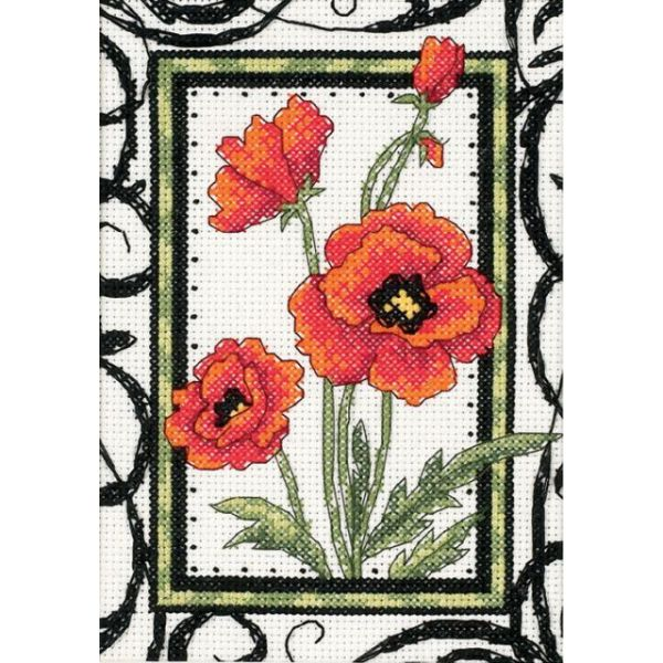 Dimensions Blooming Poppies Mini Counted Cross Stitch Kit