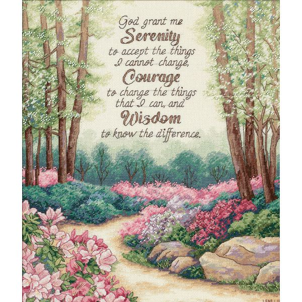 Dimensions Gold Collection Serenity, Courage, And Wisdom Counted Cross Stitch Kit