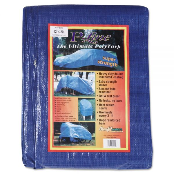 Anchor Brand Multiple Use Tarpaulin, Polyethylene, 12 ft x 20 ft, Blue