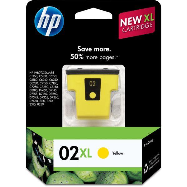 HP 02XL High-Yield Yellow Ink Cartridge (C8732WN)