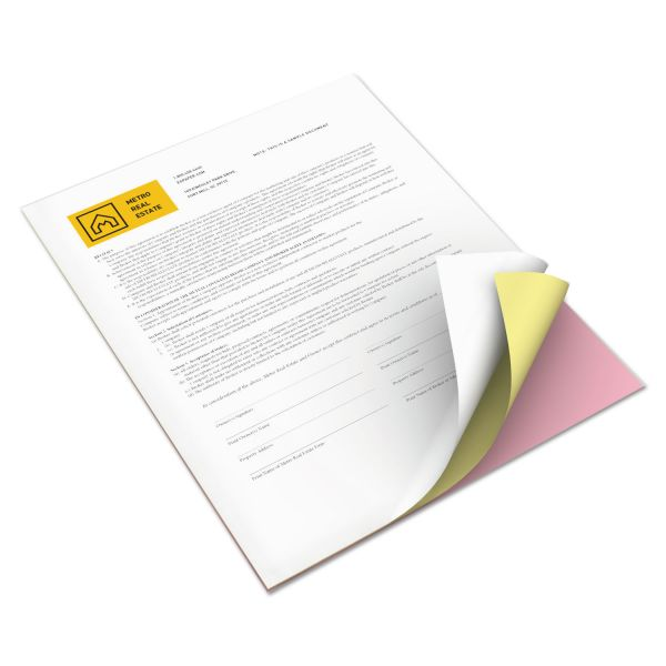 Xerox Revolution Digital Carbonless Paper, 8 1/2 x 11, Wh/Can/Pink, 5,000 Sheets/CT