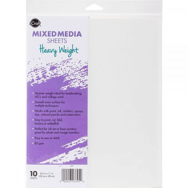 "iCraft Mixed Media Sheets 8.5""X11"" 10/Pkg"