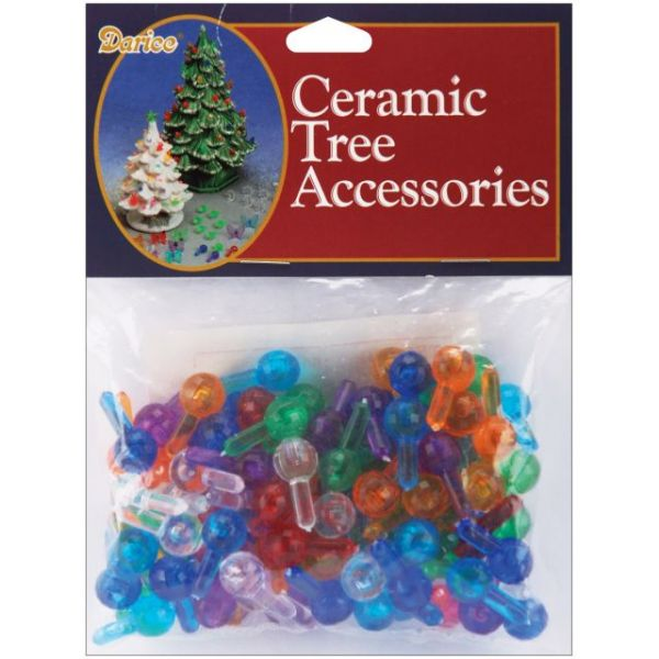 "Ceramic Christmas Tree Bulbs .5"" 100/Pkg"