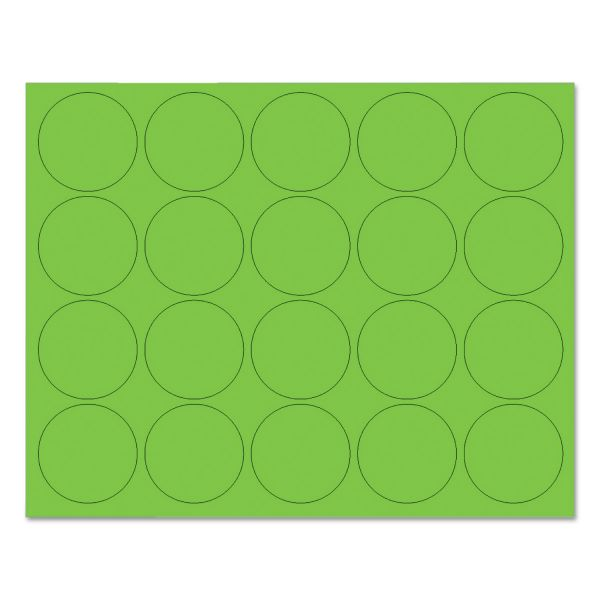 """MasterVision Interchangeable Magnetic Characters, Circles, Green, 3/4"""" Dia., 20/Pack"""