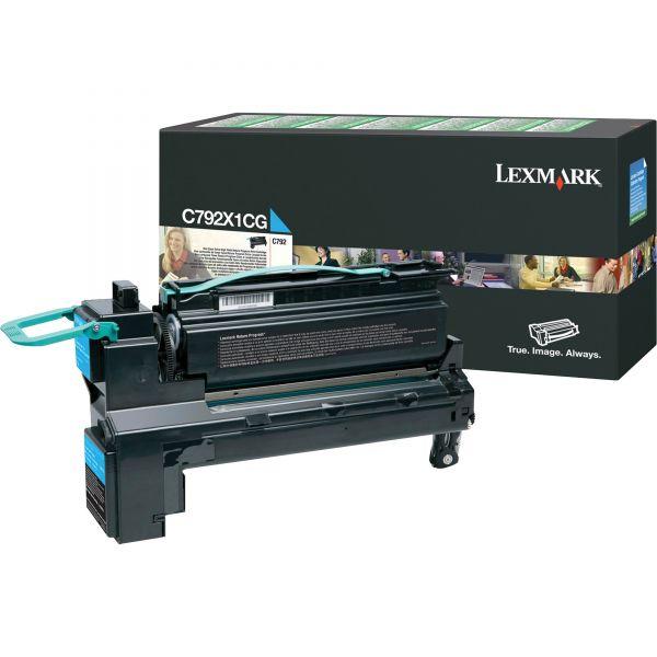 Lexmark C792X1CG Cyan Extra High Yield Return Program Toner Cartridge