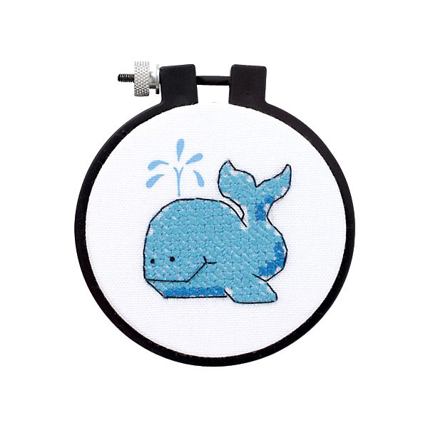 Learn-A-Craft The Whale Stamped Cross Stitch Kit