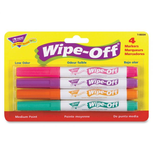Trend Bright Colors Wipe-Off Markers