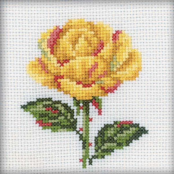 RTO Yellow Rose Counted Cross Stitch Kit