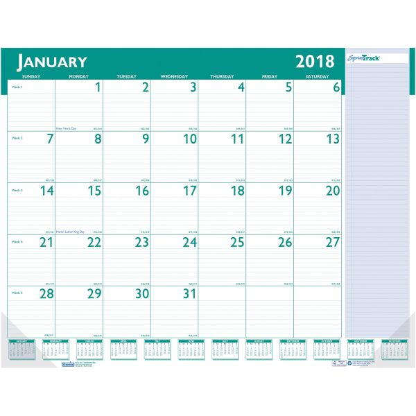 House of Doolittle Express Track Monthly Desk Pad Calendar