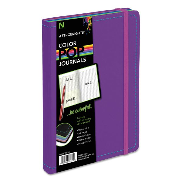 Astrobrights ColorPop Journal, College Ruled, 8 1/4 x 5 1/8, Purple, 240 Sheets