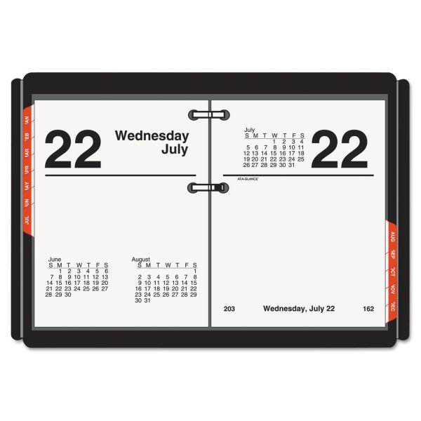 At-A-Glance Compact Daily Desk Calendar Refill with Tabs