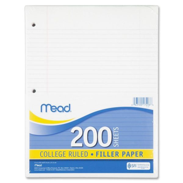 Mead College Ruled Loose Leaf Paper