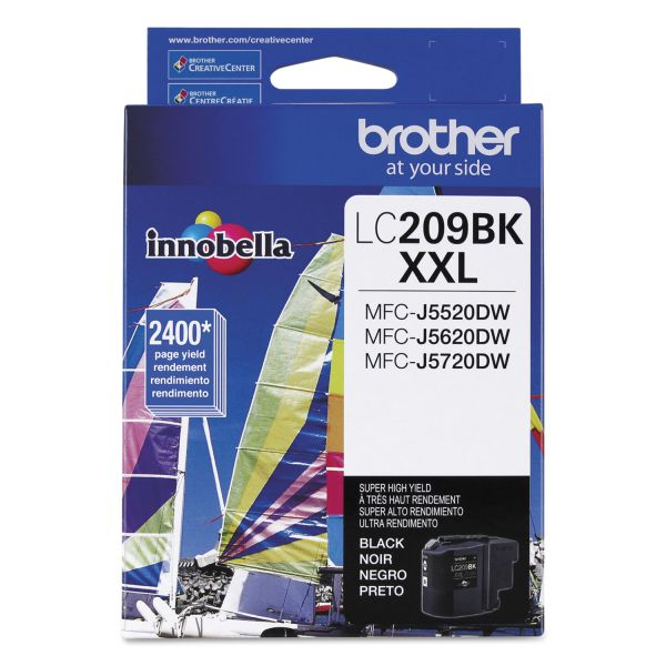 Brother Innobella Super High Yield LC209BK XXL Black Ink Cartridge