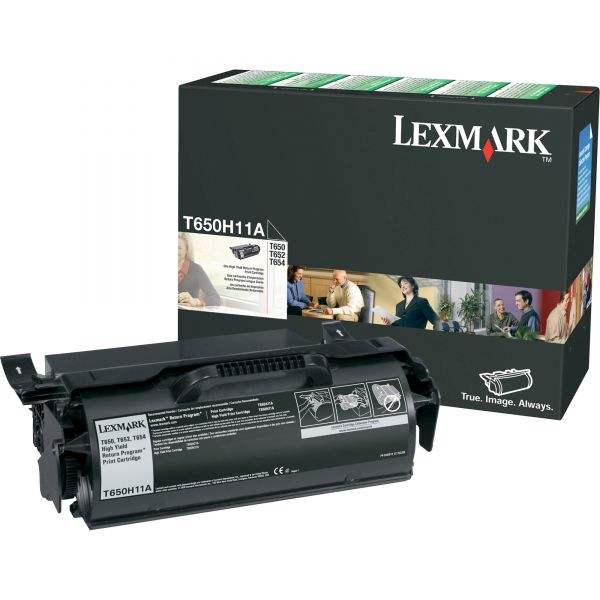 Lexmark T650H11A Black High Yield Return Program Toner Cartridge