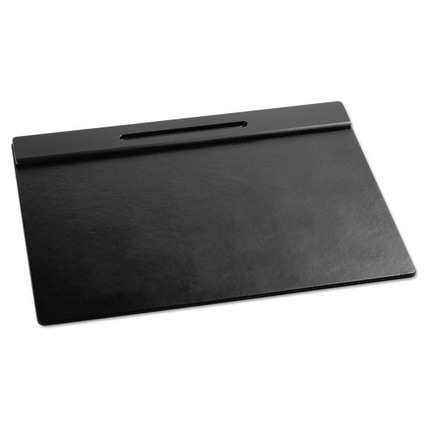 Rolodex Wood Tone Desk Pad, Black, 21 x 18