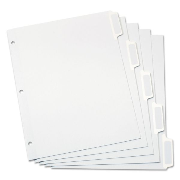 Oxford Custom Index 5-Tab Dividers With Self-Stick Tab Labels