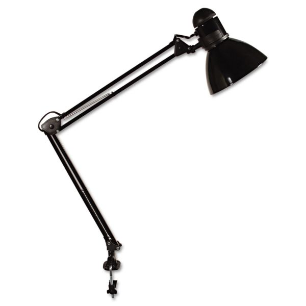 "Ledu Opti Series Swing Arm Incandescent Lamp, 30"" Reach, Black"