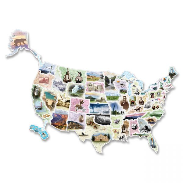 WonderFoam Giant U.S.A. Photo Puzzle Map