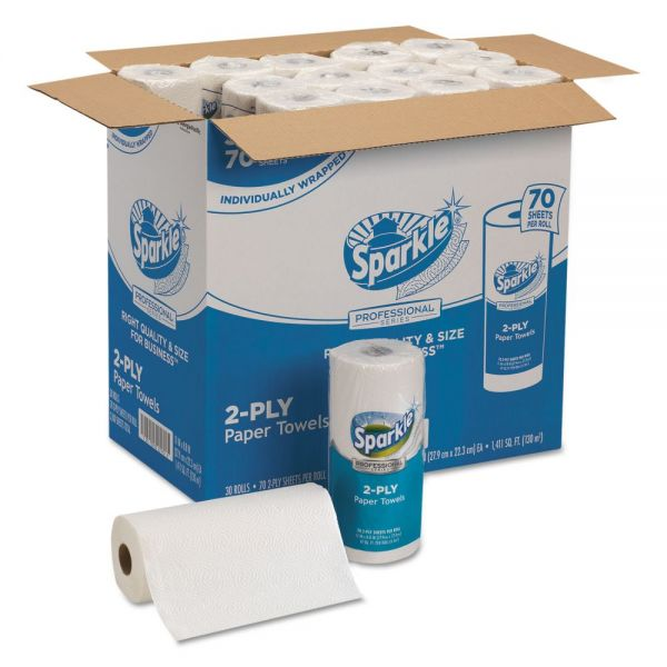 Georgia Pacific Professional Sparkle ps Perforated Paper Towels, 2-Ply, 11x8 4/5, White,70 Sheets,30 Rolls/Ct