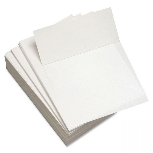 "Willcopy 3.6"" Microperforated Custom Cut White Copy Paper"