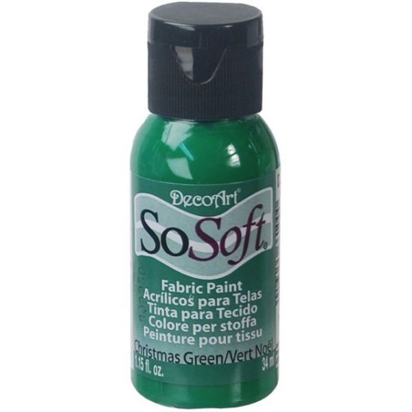 SoSoft Christmas Green Acrylic Fabric Paint