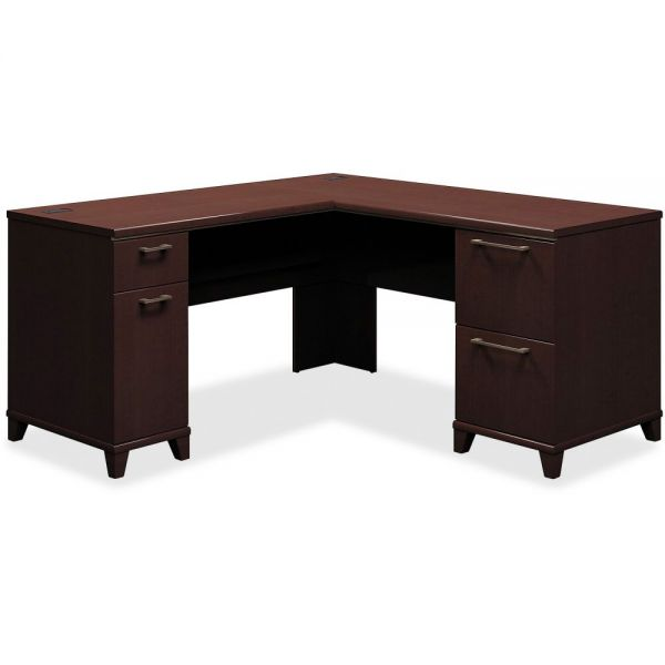 Bush Enterprise Collection 60w x 60d L-Desk Surface Only, Mocha Cherry, Box 2 of 2