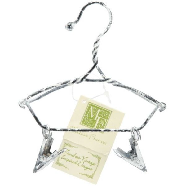 Decorative Hanger W/Clips 4""