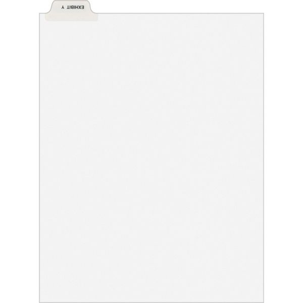 Avery-Style Preprinted Legal Bottom Tab Dividers, Exhibit Y, Letter, 25/Pack