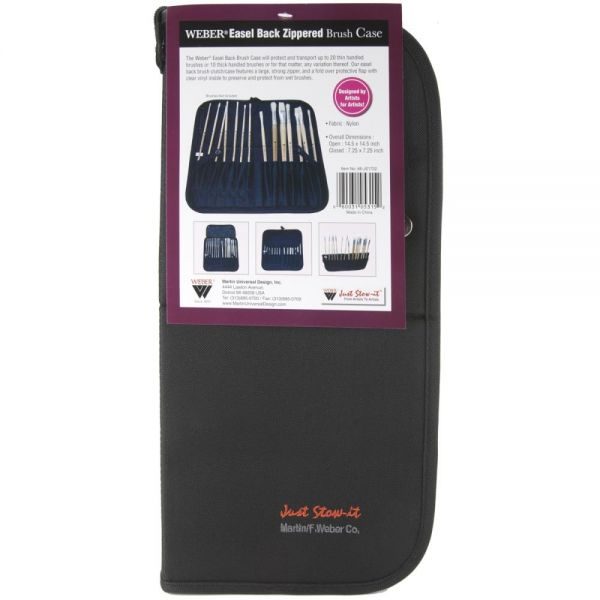 Weber Easel Back Zippered Brush Case