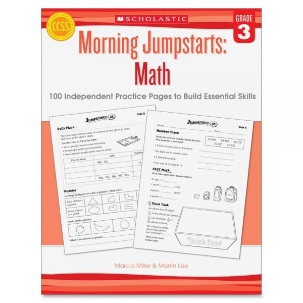 Scholastic Res. Gr 3 Morning Jumpstart Math Wkbook Education Printed Book for Mathematics