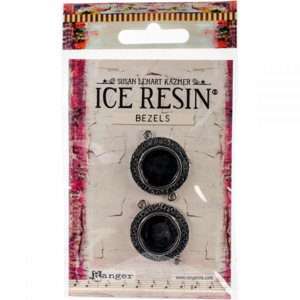 Ice Resin Milan Bezels Closed Back Silver Circle