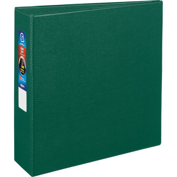 """Avery Heavy-Duty 3-Ring Binder with One Touch EZD Rings, 3"""" Capacity, Green"""