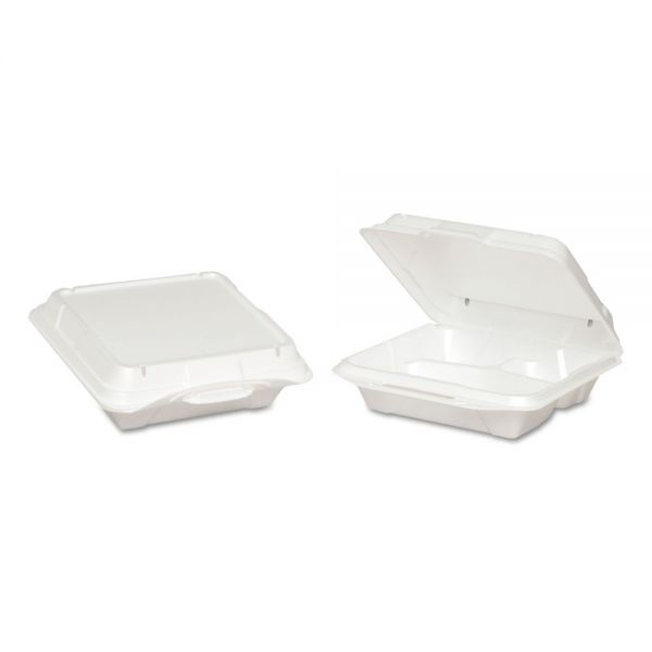 Genpak Vented Takeout Foam Clamshell Food Containers