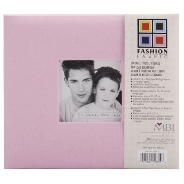 "Fashion Fabric Post Bound Album 8""X8"""