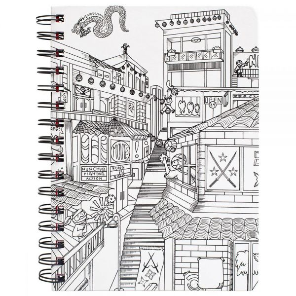 "Hall Pass Adult Coloring Spiral Bound Notebook 6""X8.25"""