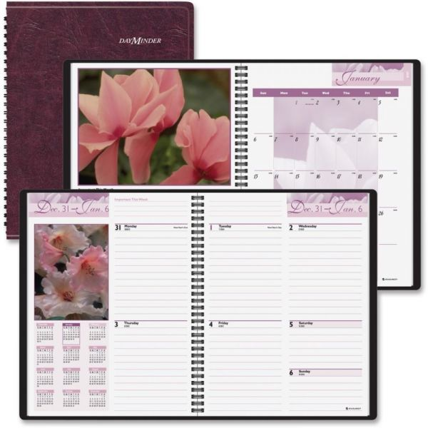 At-A-Glance DayMinder Fashion Floral Weekly/Monthly Planner