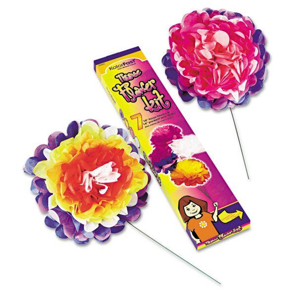 """KolorFast Tissue Paper 10"""" Flower Kit"""
