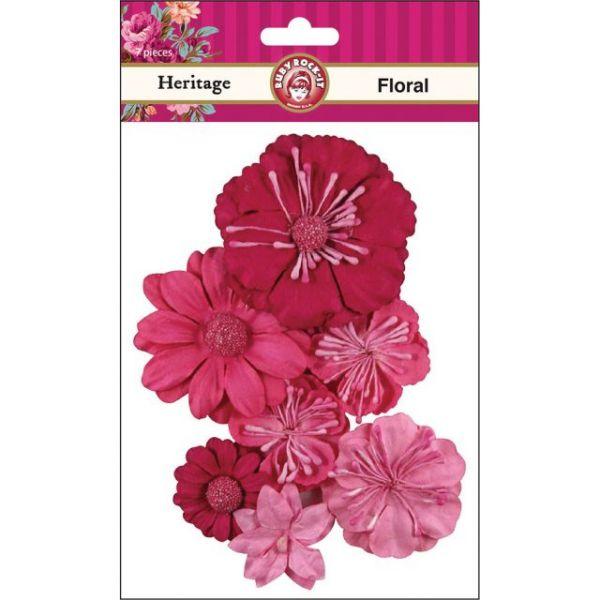 Heritage Paper Florals 7/Pkg