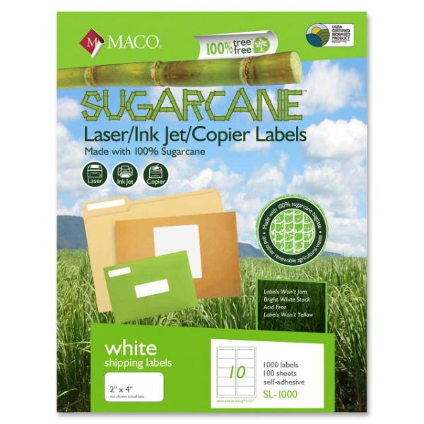 Maco Sugarcane Shipping Labels