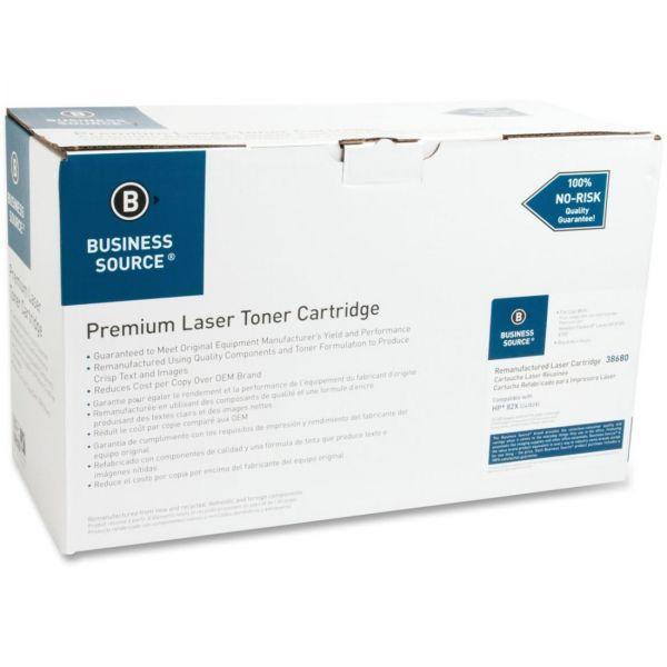 Business Source Remanufactured HP 82X Black Toner Cartridge