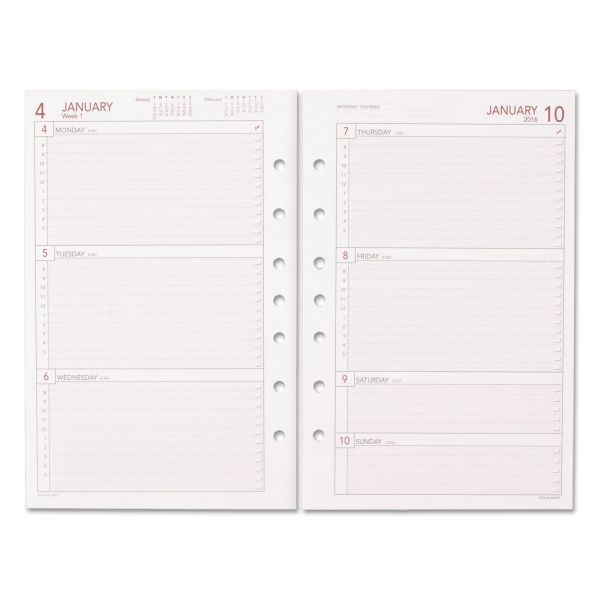 Day Runner 2PPW Weekly Refill Sheets